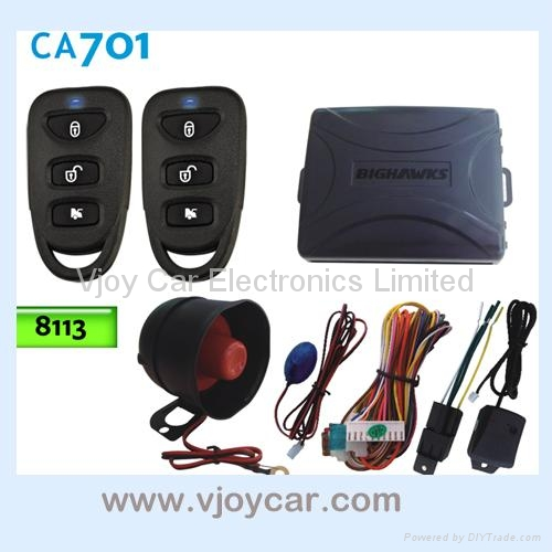 Car alarm system with window signal output  1
