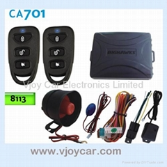 Car alarm system with window signal output