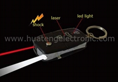 3 in 1 shock car key with LED laser light