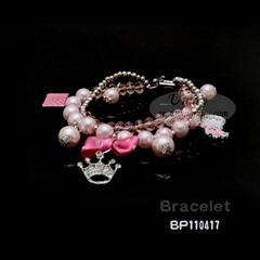 时尚带钻皇冠可爱水晶手链BP110417