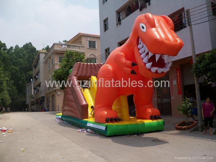 充氣恐龍滑梯 2