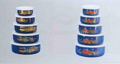 Enamel storage bowl