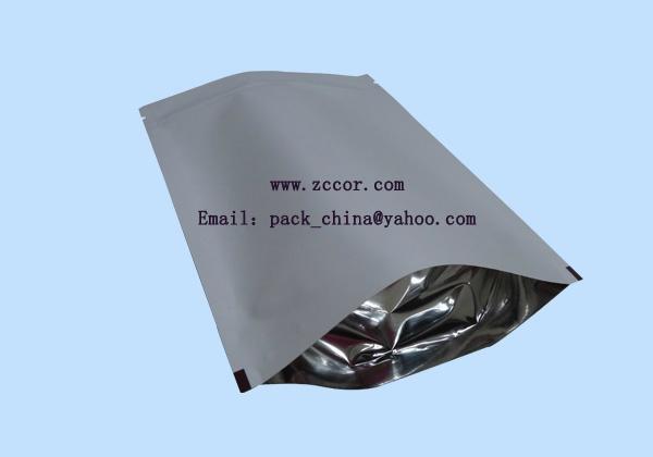white kraft glossy film aluminum foil coffee bean packaging bag 5