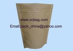 500g牛皮纸镀铝咖啡拉链包装袋