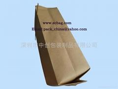 牛皮纸镀铝夹口条咖啡气阀包装袋