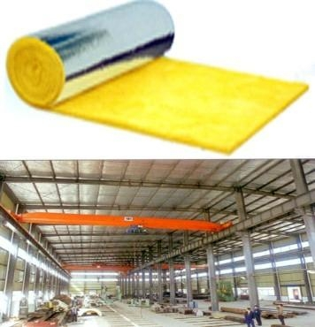 Fiber Glass Wool Blanket Roofing Insulation Wall