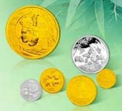 熊猫30周年金银纪念币