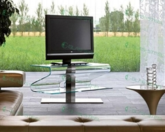 GLAS-STEEL Furniture, TV Stand, TV Units, TV Cabinet, TV Rack, Glass TV Stand