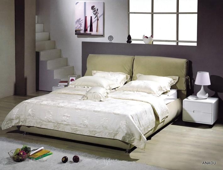 Home furniture leather bed nl009 anadu china manufacturer bedroom furniture furniture Home furniture from china
