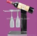 不锈钢等金属红酒瓶托盘 5