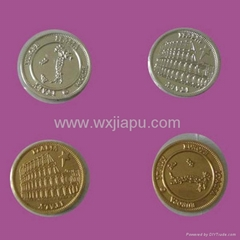 Metal coins for gift and commemoration