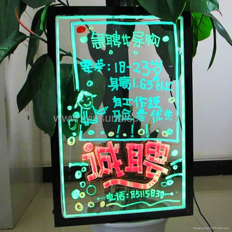 2012 new arrival transparent led menu board 1