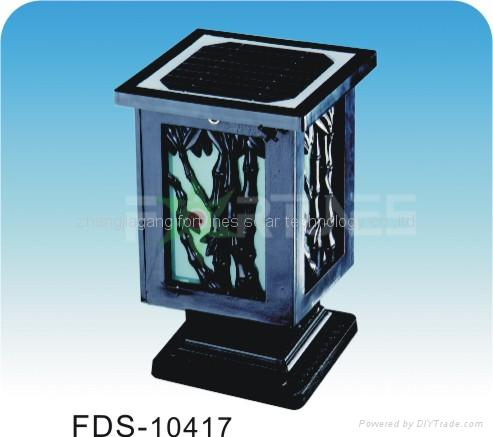 FDS-10417solar lights fixed on the wall-top