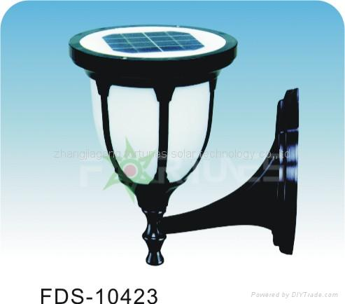 FDS-10423 solar lights fixed on the wall
