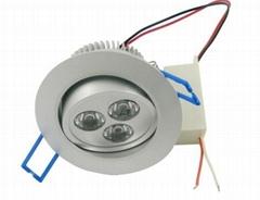 high power 3*1w LED ceiling light