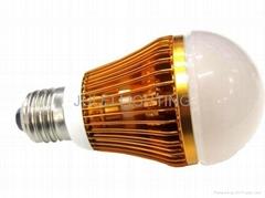6W可调光led 球泡灯