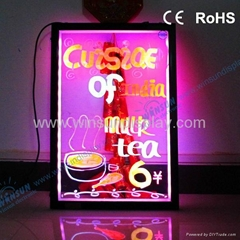 2012 electronic products transparent led writing boards