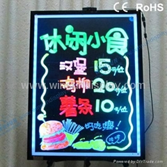 led fluorescent board with marker pen