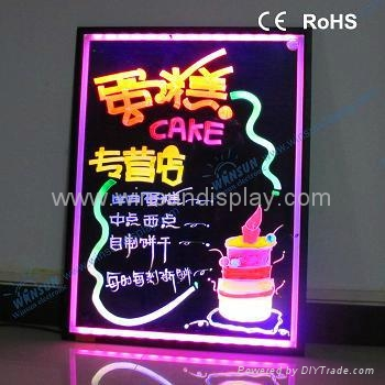 led fluorescent writing board for advertising and promotion 4