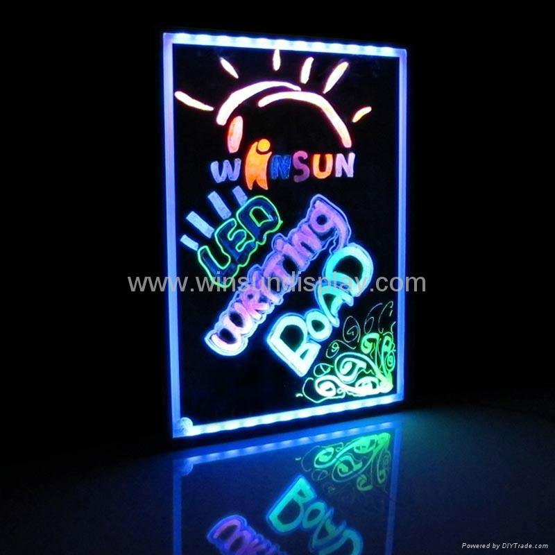 2012 New fashion LED Writing Board 4