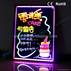 2012 new technology illuminated led menu boards