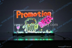 desktop led writing board