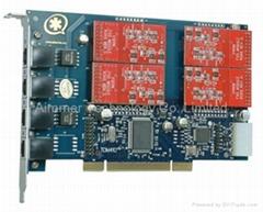 TDM410P語音卡 兼容digium