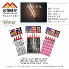 10CM cake fireworks
