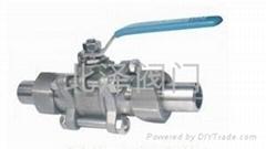 Q11F帶接管三片式焊接球閥