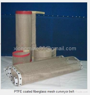 PTFE teflon coated fiberglass mesh conveyor belt  1