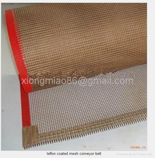 PTFE teflon coated fiberglass mesh conveyor belt  2