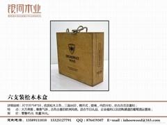 紅酒木盒包裝六支木箱