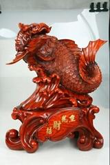 木紋招財龍魚