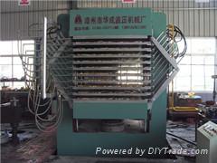 厂家直供-指接板生产设备-HCM-500T同步侧压机