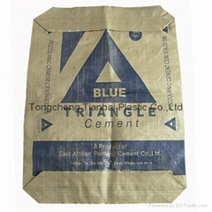 pp woven sack bags for packing cement with valve