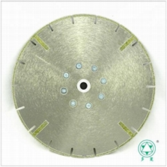 Electroplated diamond blade Reinforcing rib M14 Flange connected