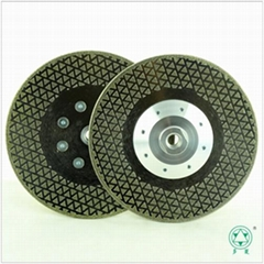 Electroplated diamond saw blade double side star with M14 flange