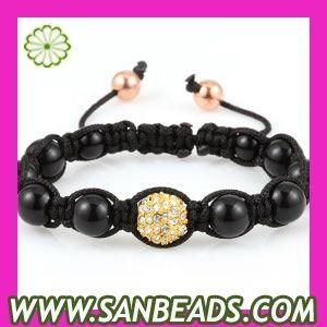 Fashion Shamballa Inspired Bead Bracelet Jewelry