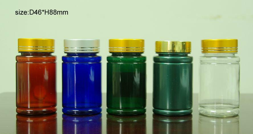 100cc Pet Medicine Bottle Capsule Bottle With Aluminum Lid