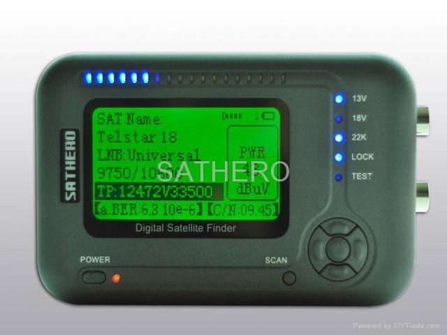 sathero digital satellite finder sat finder signal meter sh 200 china manufacturer. Black Bedroom Furniture Sets. Home Design Ideas