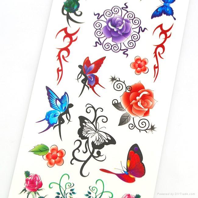 蝴蝶纹身贴纸 - 1008