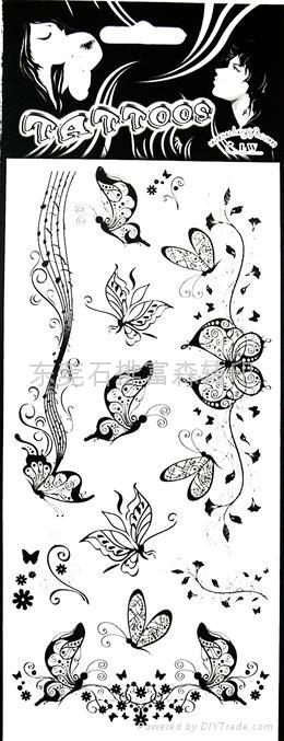 玫瑰花纹身贴纸