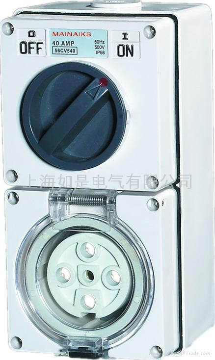 Clipsal waterproof combination switch socket shall 56CV 1