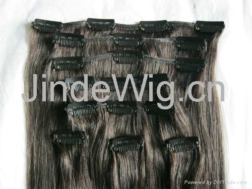 JinDe clip on 100% human hair extension 1