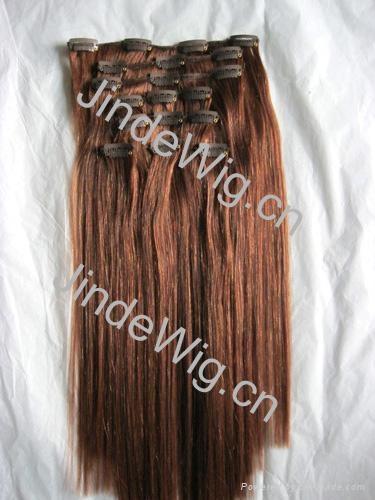 JinDe clip on 100% human hair extension 2