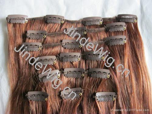 JinDe clip on 100% human hair extension 3