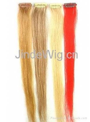 JinDe clip on 100% human hair extension 5
