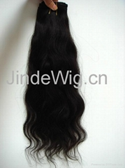 JinDe machine weft 100% human hair extension