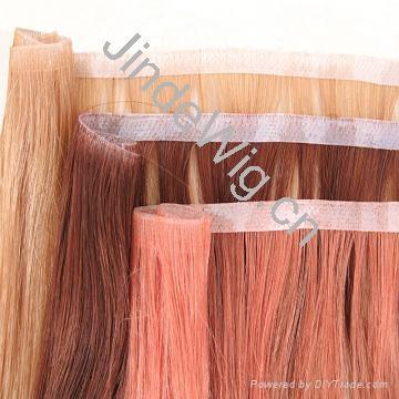 JinDe skin weft 100% human hair extension 1