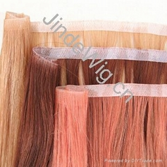 JinDe skin weft 100% human hair extension